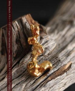 7.38gの個性的な長い形の磨かれた自然金-G0416-1