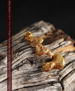 7.38gの個性的な長い形の磨かれた自然金-G0416-2