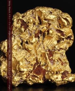 12.32gの色や模様など多くの特徴ある表面の自然金-G0421-1
