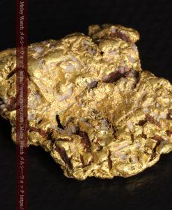 12.32gの色や模様など多くの特徴ある表面の自然金-G0421-10