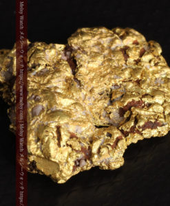 12.32gの色や模様など多くの特徴ある表面の自然金-G0421-11