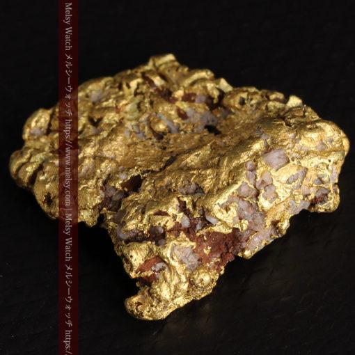 12.32gの色や模様など多くの特徴ある表面の自然金-G0421-12