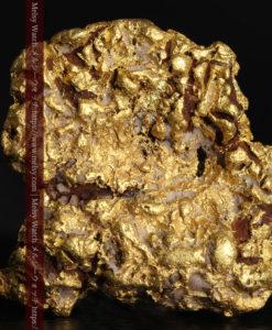 12.32gの色や模様など多くの特徴ある表面の自然金-G0421-2