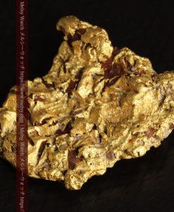 12.32gの色や模様など多くの特徴ある表面の自然金-G0421-6