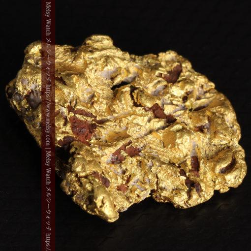 12.32gの色や模様など多くの特徴ある表面の自然金-G0421-7