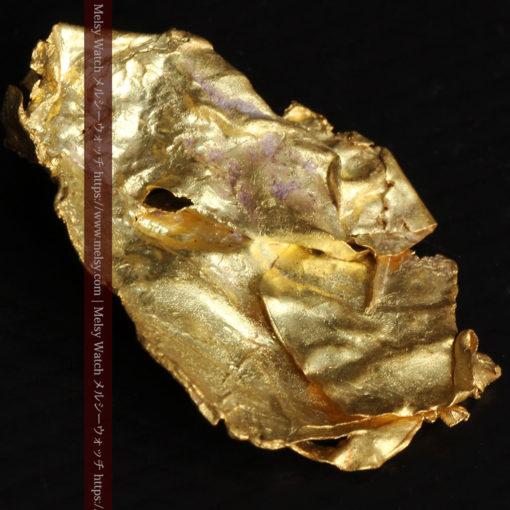 1.08gの非常に薄くかつ大きな面の希少な薄片金・自然金-G0422-10