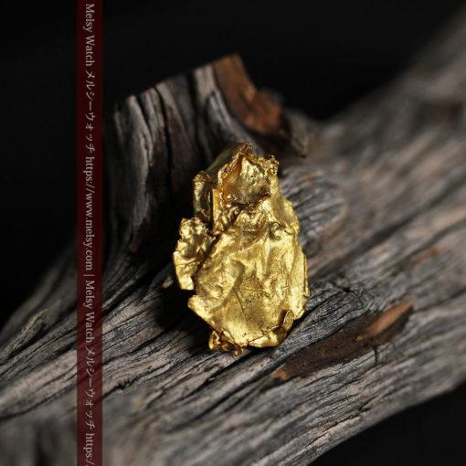 1.08gの非常に薄くかつ大きな面の希少な薄片金・自然金-G0422-11