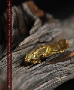 1.08gの非常に薄くかつ大きな面の希少な薄片金・自然金-G0422-13