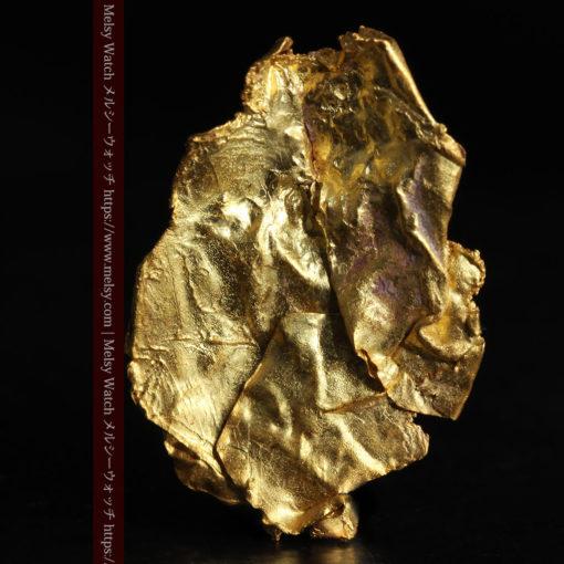 1.08gの非常に薄くかつ大きな面の希少な薄片金・自然金-G0422-2