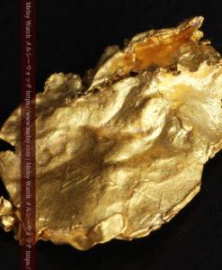 1.08gの非常に薄くかつ大きな面の希少な薄片金・自然金-G0422-3