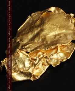 1.08gの非常に薄くかつ大きな面の希少な薄片金・自然金-G0422-4
