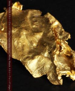 1.08gの非常に薄くかつ大きな面の希少な薄片金・自然金-G0422-6