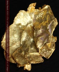 1.08gの非常に薄くかつ大きな面の希少な薄片金・自然金-G0422-7