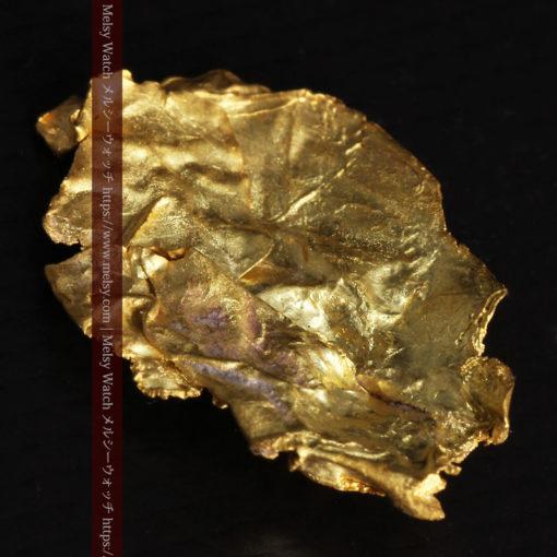 1.08gの非常に薄くかつ大きな面の希少な薄片金・自然金-G0422-8
