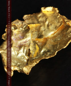 1.08gの非常に薄くかつ大きな面の希少な薄片金・自然金-G0422-9
