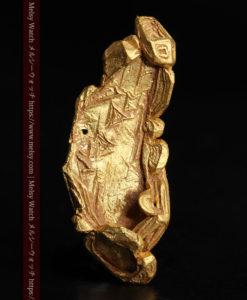 1.97gの結晶のような模様が見える長めの薄片金・自然金-G0423-1