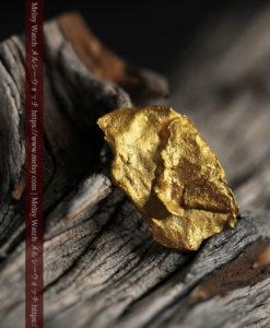 0.97gのクラッチバッグのような形をした薄片金・自然金-G0424-1