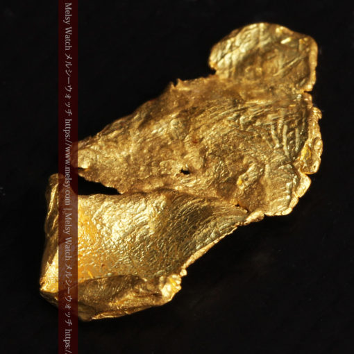 0.67gの非常に薄い面の大きな薄片金・自然金-G0426-10