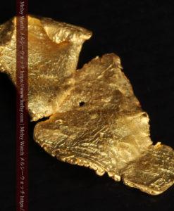 0.67gの非常に薄い面の大きな薄片金・自然金-G0426-11