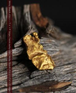 0.9gの個性的でいびつな形をした薄片金・自然金-G0427-1