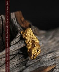0.9gの個性的でいびつな形をした薄片金・自然金-G0427-2