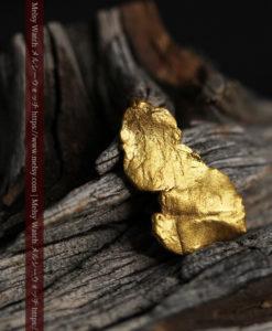 0.6gの靴のような形をした薄片金・自然金-G0428-2