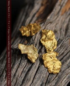 2.17gのやや粒の大きな薄片金・自然金4点-G0429-2