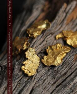 1.98gのやや粒の大きな薄片金・自然金5点-G0430-1