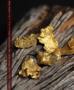 1.98gのやや粒の大きな薄片金・自然金5点-G0430-2