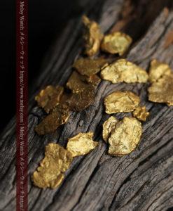 4.04gのやや粒の大きな薄片金・自然金18点-G0431-1