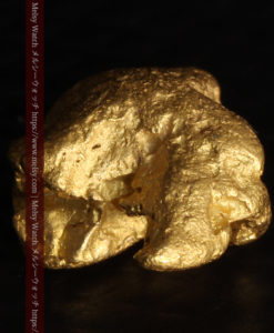 2.84gの天然の粗削りな美しさがある自然金-G0441-11