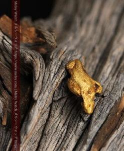1.72gの人差し指と親指を伸ばした手のような形の自然金-G0442-2