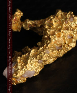 3.04gの咆哮する黄金色に輝く竜のような形の自然金-G0443-14