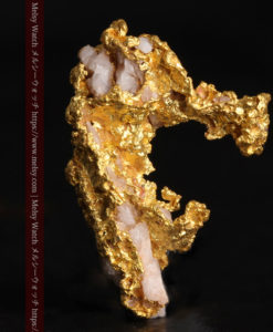 3.04gの咆哮する黄金色に輝く竜のような形の自然金-G0443-2
