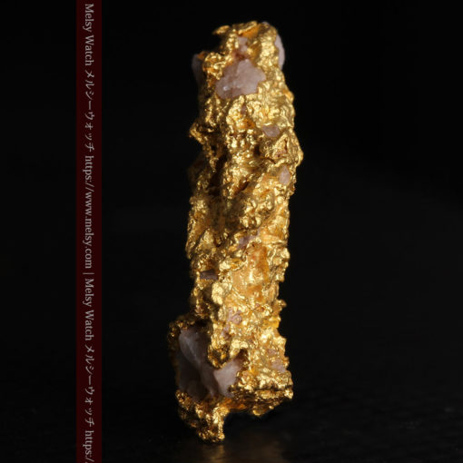 3.04gの咆哮する黄金色に輝く竜のような形の自然金-G0443-3