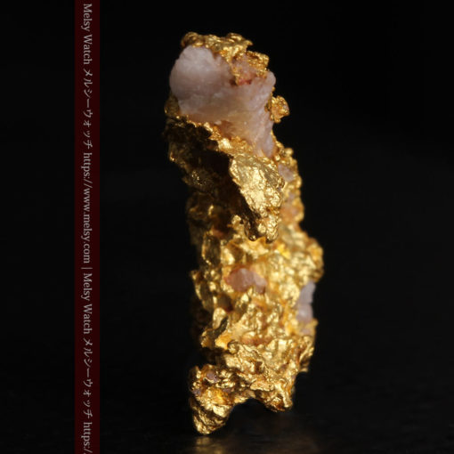 3.04gの咆哮する黄金色に輝く竜のような形の自然金-G0443-4