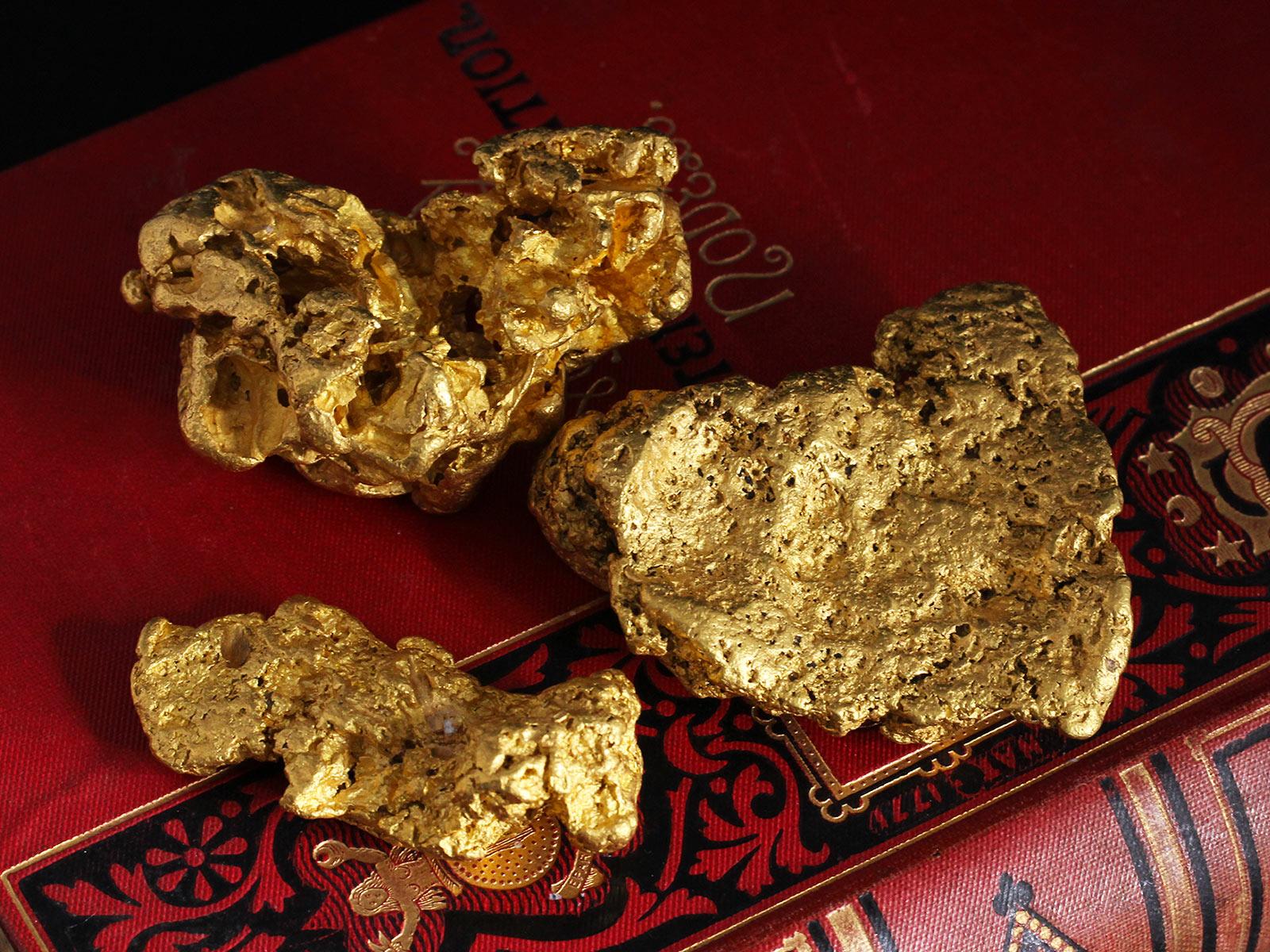 大きな塊の自然金