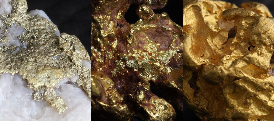 自然金の色の違い
