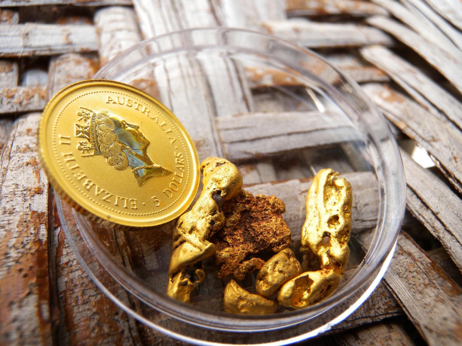 ゴールドナゲットと金貨